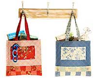 Blue Skies and Rosy Cheeks Tag-A-Long Quilt and Mini Tote