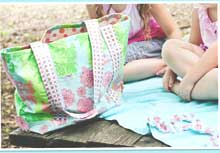 Vinyl Beach Tote & Towel Set Pattern *