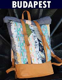 Budapest Adventure Rucksack Pattern by Domestic Strata