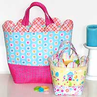 Sweet Scallops Bag and Basket Pattern *