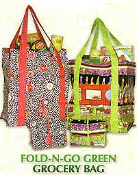 Fold-N-Go Green Grocery Bag Pattern