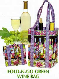 Fold-N-Go Green Wine Bag Pattern