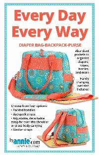 Every Day Every Way Diaper Bag-Backpack-Purse Pattern