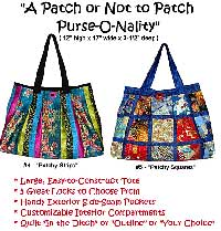 To Patch Or Not Patch Purse-O-Nality Patchwork Bag Pattern