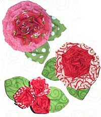 Pleated Posy Fabric Flower Pattern