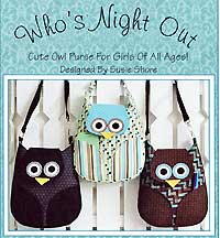 Who's Night Out Bag Pattern *