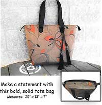 Go Bold or Stay Home Tote Pattern
