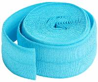 "Fold-over Elastic - 3/4"" x 2 yds - PARROT BLUE"