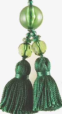 Beaded Tassel in Jungle Green
