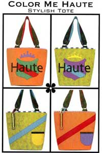 Color Me Haute Wool Felt Tote Bag Pattern