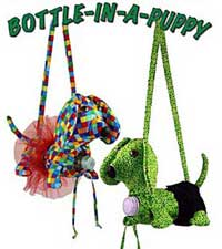 Bottle-In-A-Puppy Beverage Tote Pattern *