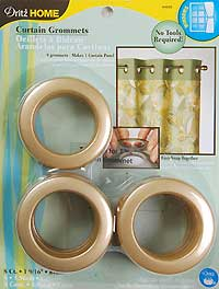 Large Grommets in Brass Color
