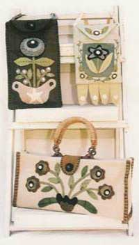 Three Floral Purses Pattern