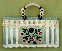 Ticking and Lace Handbag Pattern