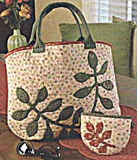 Flora Applique Tote and Pouch Pattern