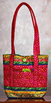 Button Bag - Rotary Cut Border Bag Pattern