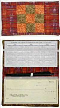 Checkbook Cover Pattern