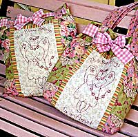 Angel Belongings Tote Bag Pattern and Pillow