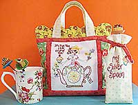 High Tea Just For Me Tote Bag Pattern