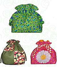 Mini Drawstring Tote Pattern by Penny Sturgis of Quilts Illustrated