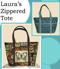 Laura's Zippered Tote Pattern by The Creative Thimble