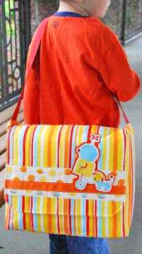 Little Buddy Messenger Bag Pattern *